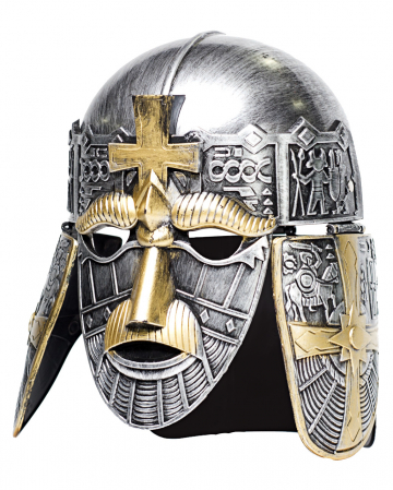 Silberner Kreuzritter Helm