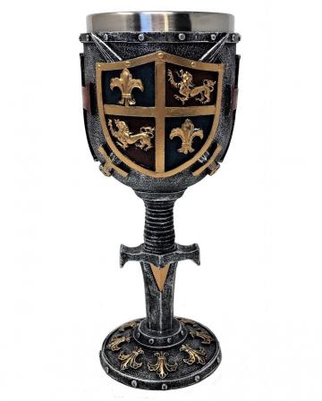Kreuzritter Kelch mit Wappen