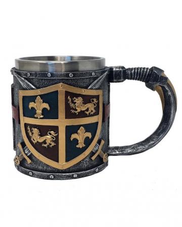 Kreuzritter Krug mit Wappen