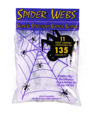 Halloween Spinnennetz weiß 40gr.