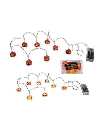 Kürbis Lichterkette mit farbwechselnder LED 1,3m