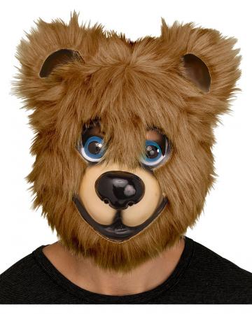 Süße Bärenmaske braun