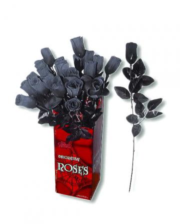 Künstliche Rose schwarz-weiß