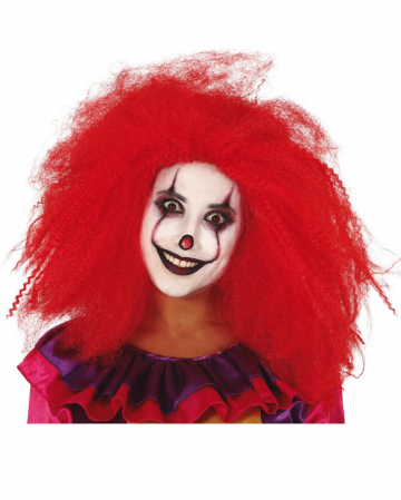 Wuschelige Clownsperücke Rot