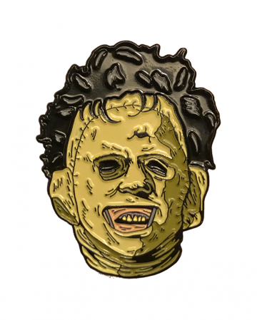 Leatherface Emaille Brosche