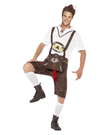 Lederhosen Kostüm mit Wurstzipfel