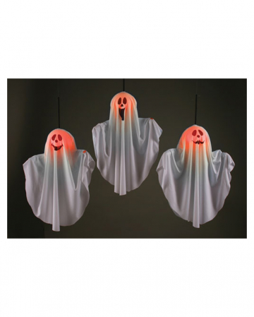 Smiling Ghost With Light Effect For Hanging
