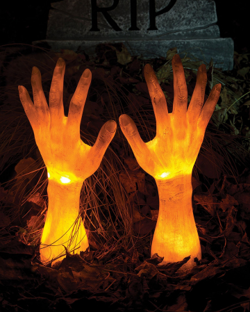 Bright Zombie Hands For The Garden