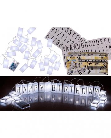 Letterbox Lichterkette mit Buchstaben u. Zahlen