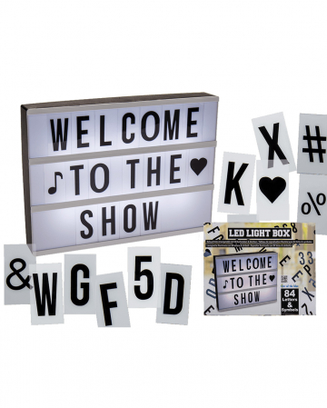 LED Lightbox Incl. Letters And Characters