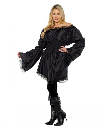 Longshirt Frill Blouse Black