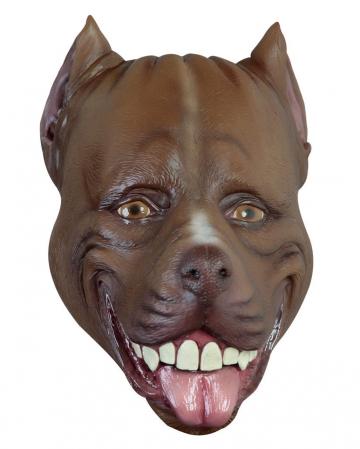 Witzige Pitbull Latex Maske