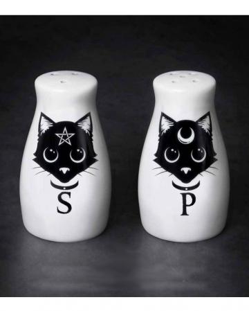 Magische Pagan Katzen Salz & Pfefferstreuer Set
