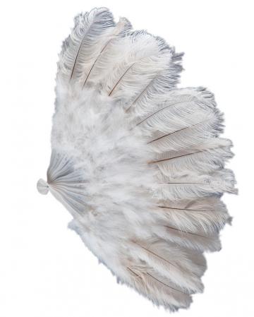 White Burlesque Feather Fan XXL 50cm