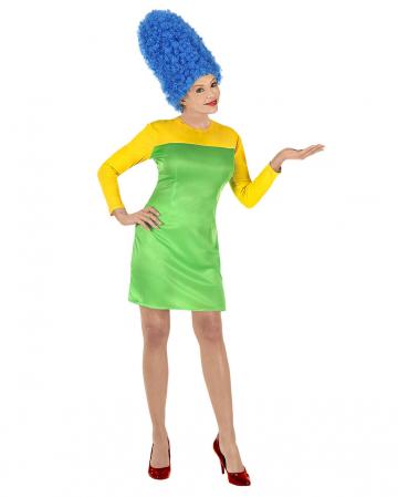 Marge Comic Damen Kostüm mit Perücke