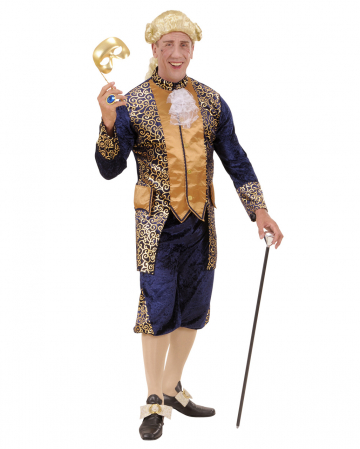 Marquis Kostüm blau/gold