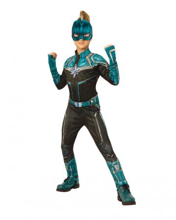 Captain Marvel Kree Child Costume Blue