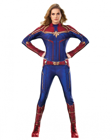 Captain Marvel Jumpsuit Ladies Costume