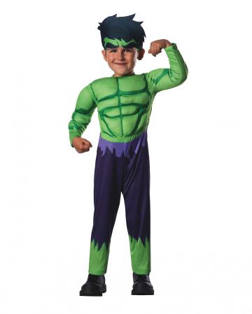 Marvel - Hulk Muskelkostüm für Kinder