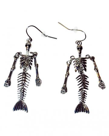 Mermaid Skeleton Earrings