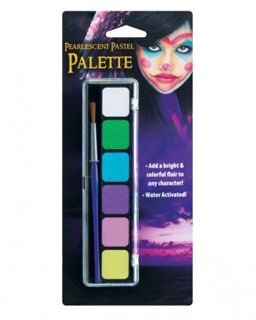 Pastell Aqua Color Make Up Palette 6 Farben