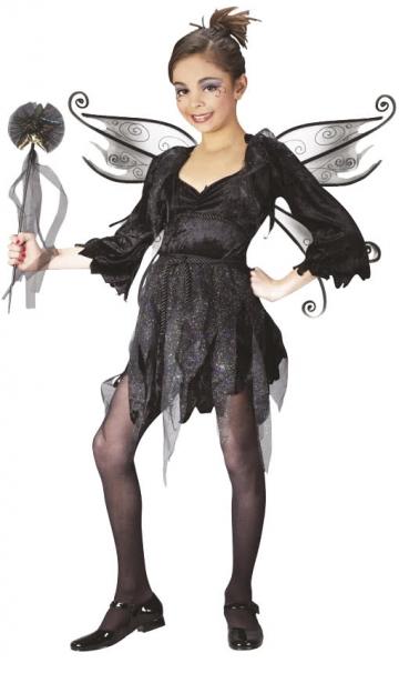 Midnight Fairy Child Costume Size S