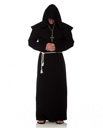 Mönchsrobe Männerkostüm schwarz