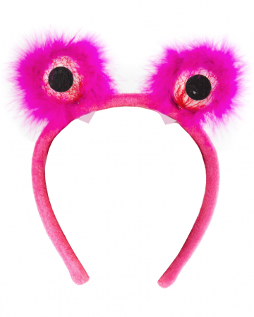Pinker Haarreifen mit Monsteraugen