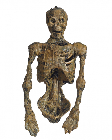 Mumifizierter Skelett Torso mit LED Augen