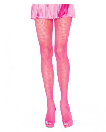 80s Netzstrumpfhose Neon Pink