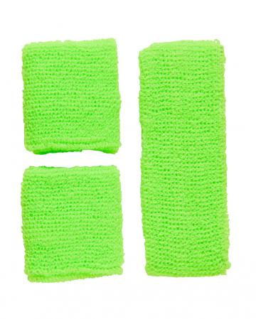 Schweißband Set Grün als Verkleidungs Accessoires