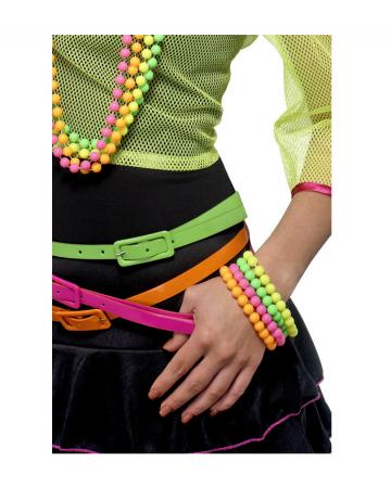Neon Pearl Bracelet Set of 4