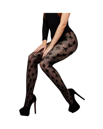 Fishnet Pantyhose With Playing Cards Motif