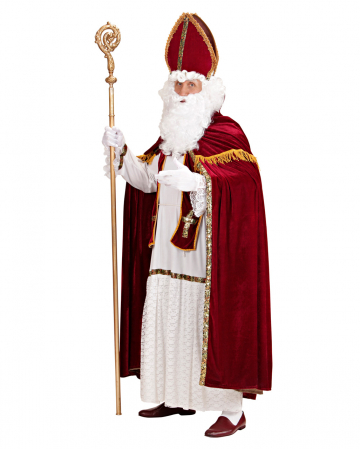 5-tlg Nikolaus Kostüm mit Mitra