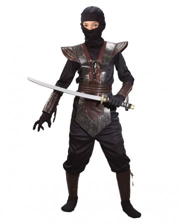 Ninja Fighter Kinderkostüm braun L