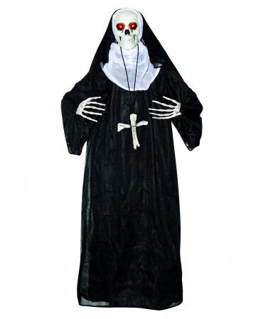 Skelett Nonne Animatronic mit Licht & Sound
