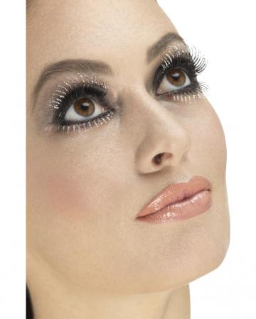 Upper & lower eyelashes with glitter
