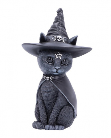 Occult Cat Figure With Witch Hat