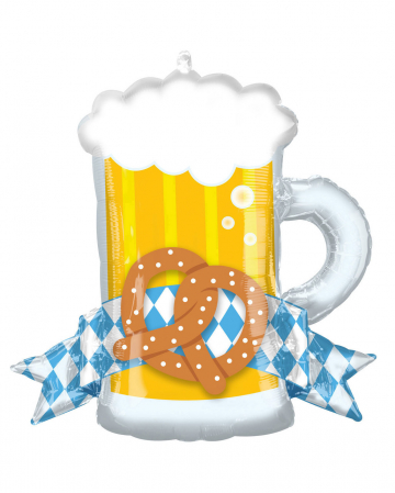 Oktoberfest Bierkrug & Brezel Folienballon