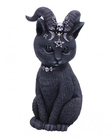 Mystische Katzenfigur mit Ziegenhörner