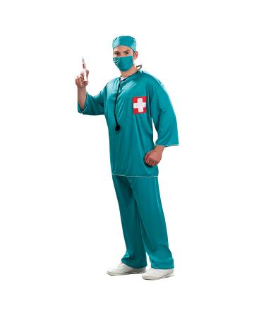 Scrubs OP Arzt Herrenkostüm XL
