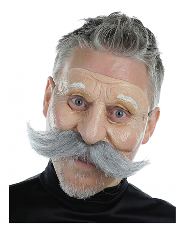 Großvater Halbmaske mit Bart