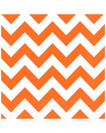 Orange Zig-zag Napkins 20 Pcs.