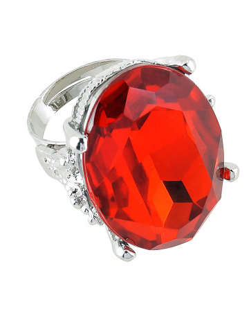 Oval Ring With Ruby red Gemstone