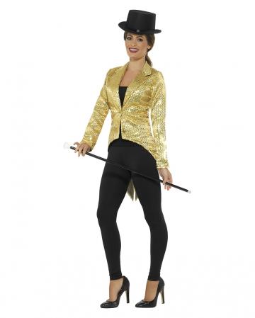 Goldene Frauen Pailletten-Jacke