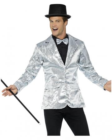 Silberne Männer Pailletten-Jacke