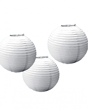 Paper Lantern Set 3 Pcs. White