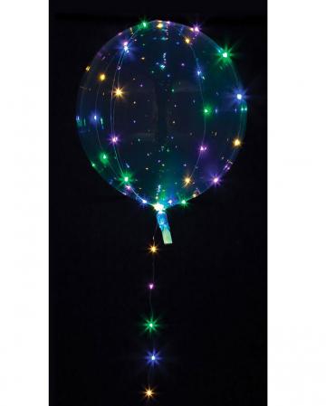 Party Kugel Ballon mit bunter LED Lichterkette