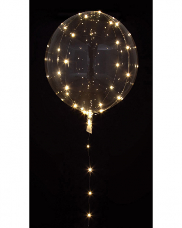 Party Kugel Ballon mit LED Lichterkette