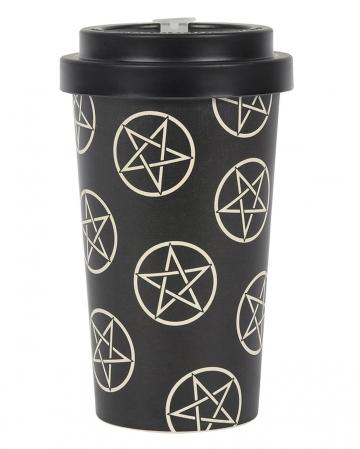 Pentagramm Design To Go Bambusbecher